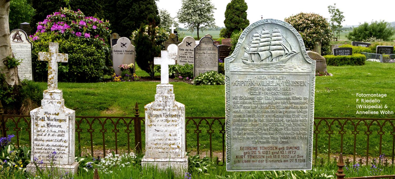 Sprechende Grabsteine auf Föhr/Amrum