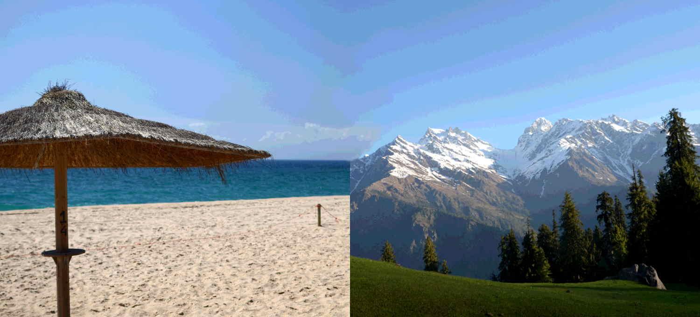 Strand oder Berge