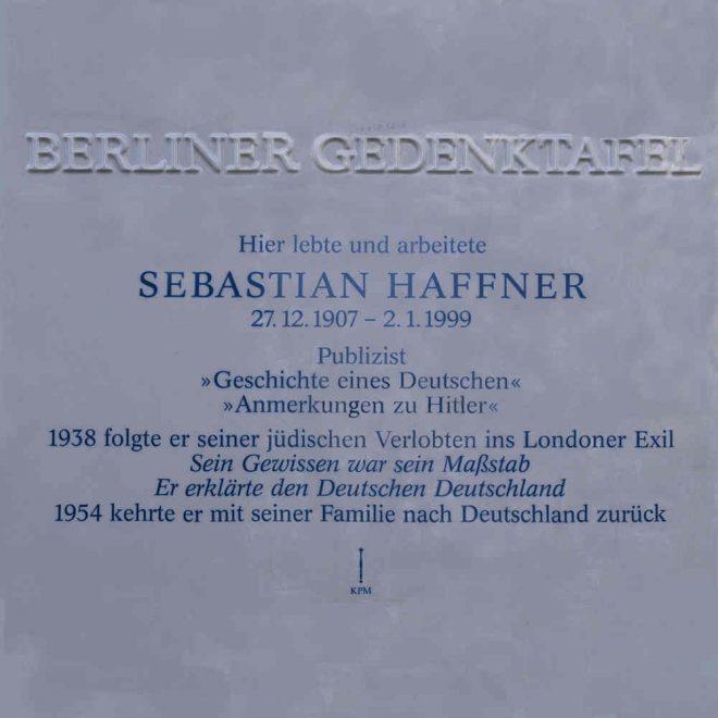 Gedenktafel Haffner